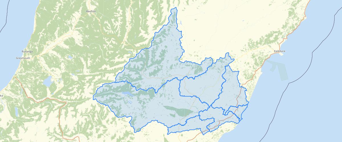 Canterbury - Hurunui Waiau River Regional Plan - Groundwater Allocation Zones