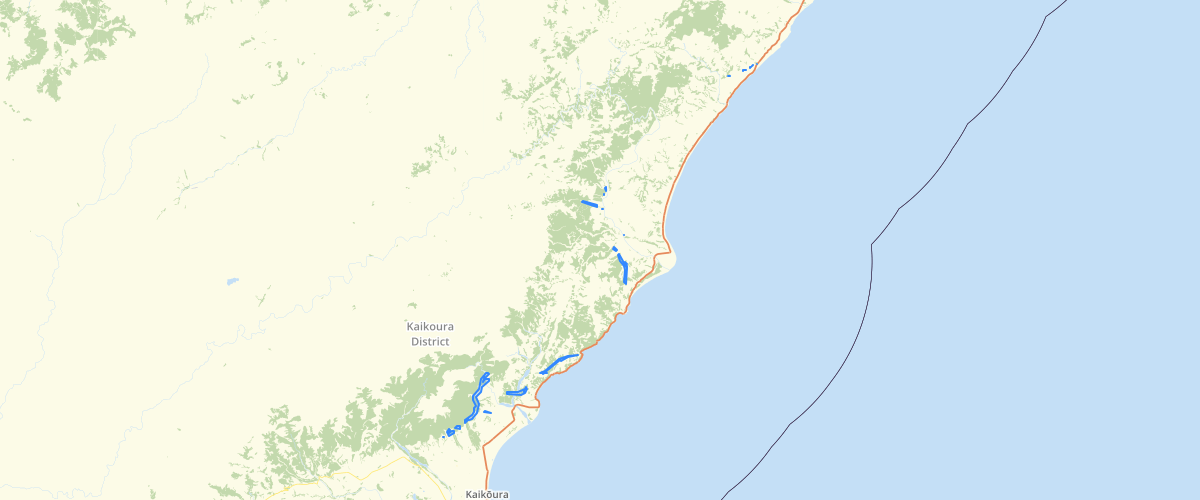 Canterbury - Kaikoura District Fault Avoidance Zones