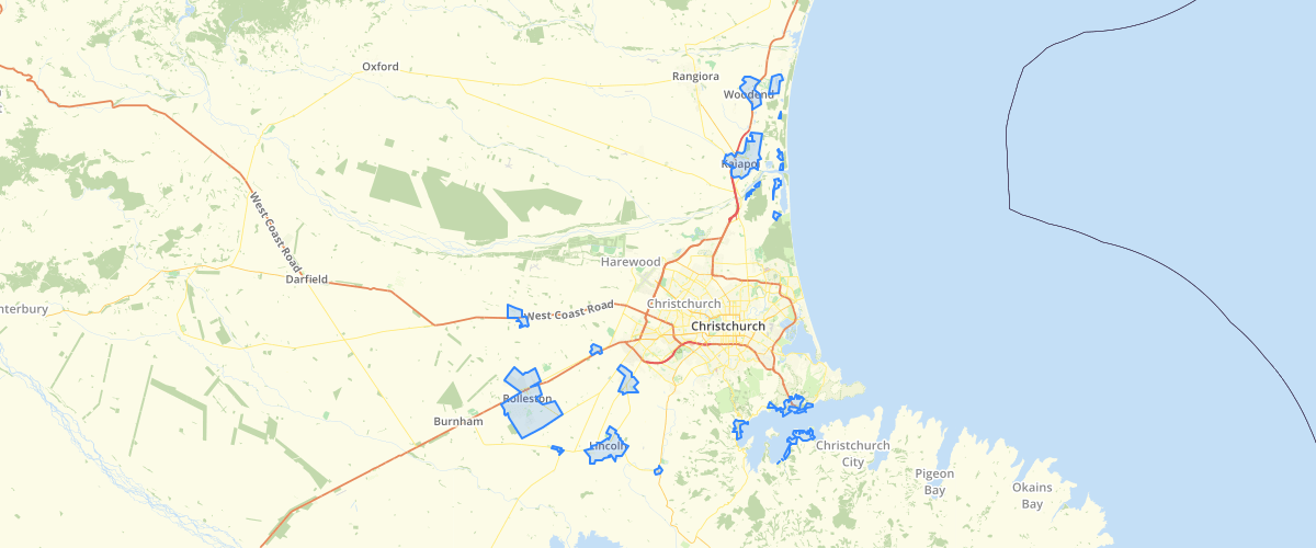 Canterbury - Land Use Recovery Plan - Projected Infrastructure Boundary