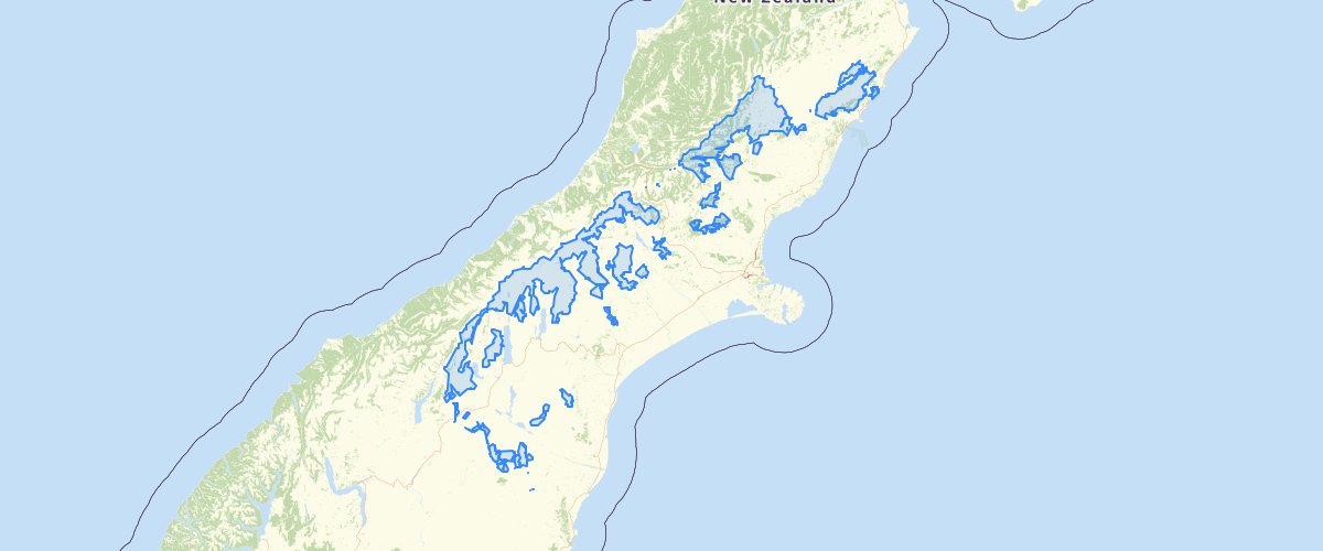 Canterbury - LWRP Department of Conservation Estate Owned land - Natural State Water Quality Areas