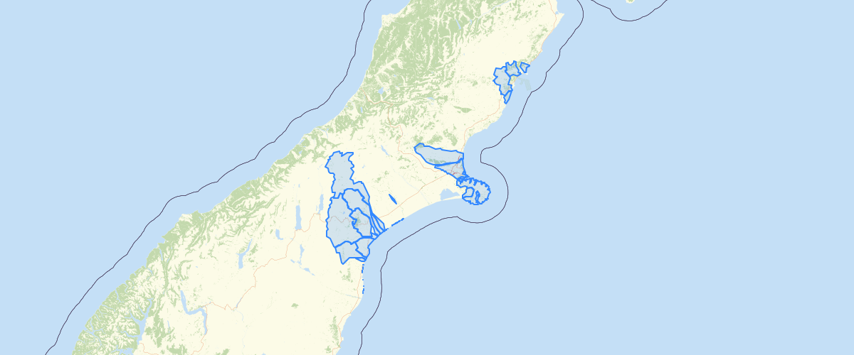 Canterbury - LWRP - Nutrient Allocation Zones