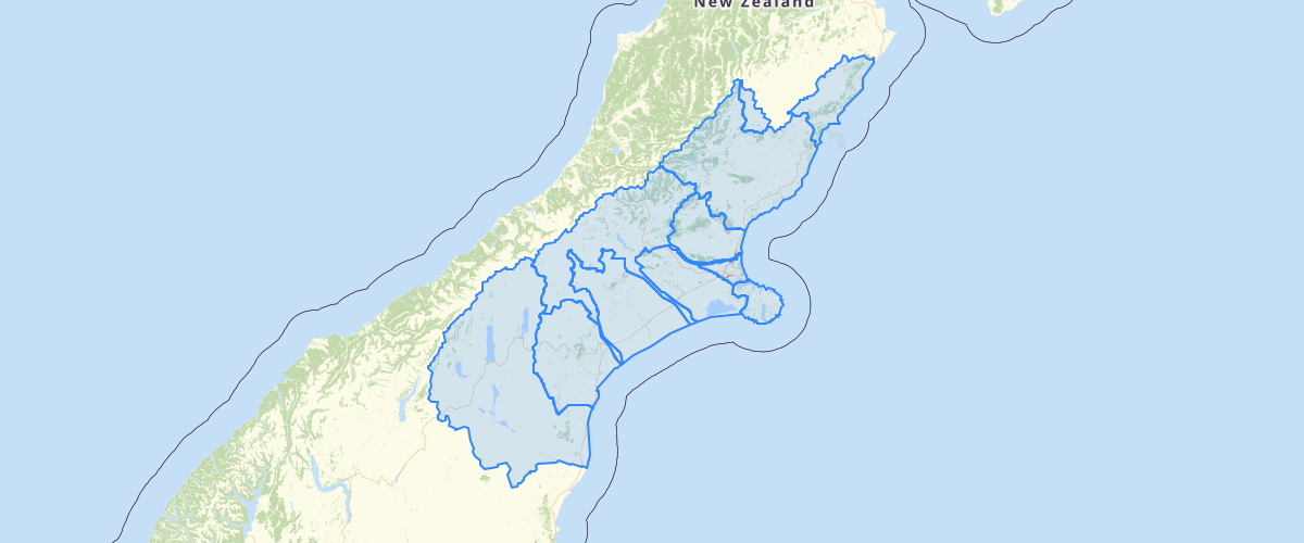 Canterbury - LWRP - Sub Regional Chapter Boundaries