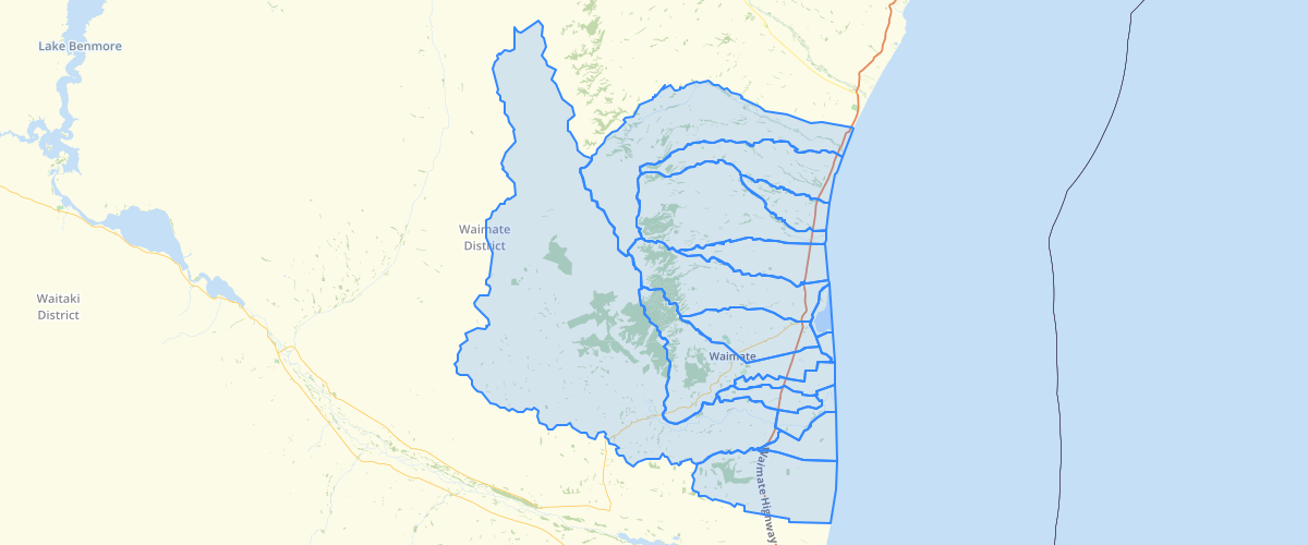 Canterbury - LWRP - Surface Water Allocation Zones