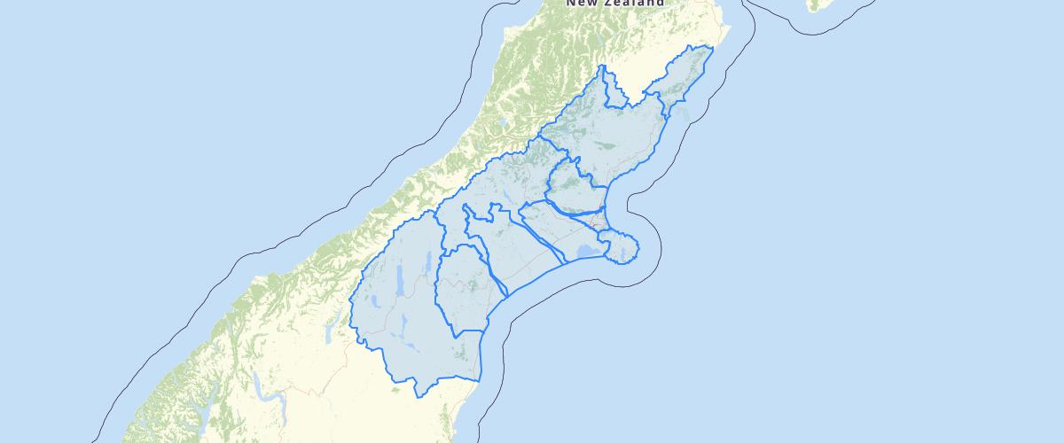 Canterbury - Plan Change 2 LWRP - Sub Regional Chapter Boundaries