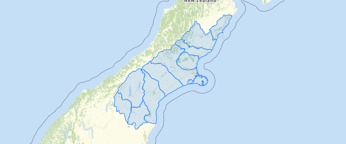 Canterbury - Rating Areas - Pest Districts