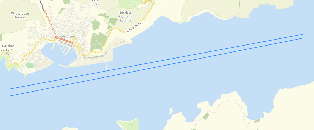 Canterbury - RCEP - Lines Marking Edge of Main Navigation Channel of Lyttelton