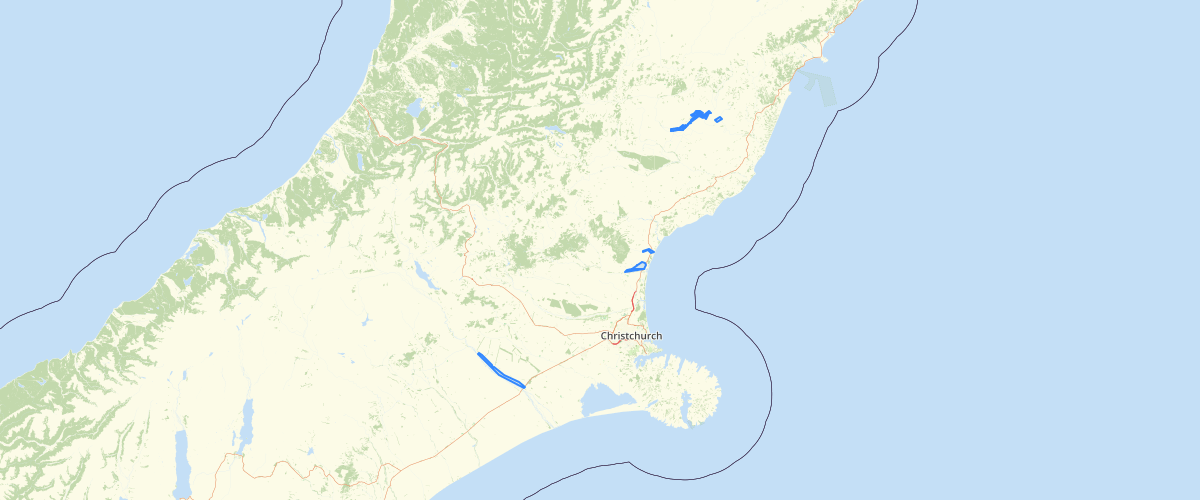 Canterbury - River Rating Districts - Localised River