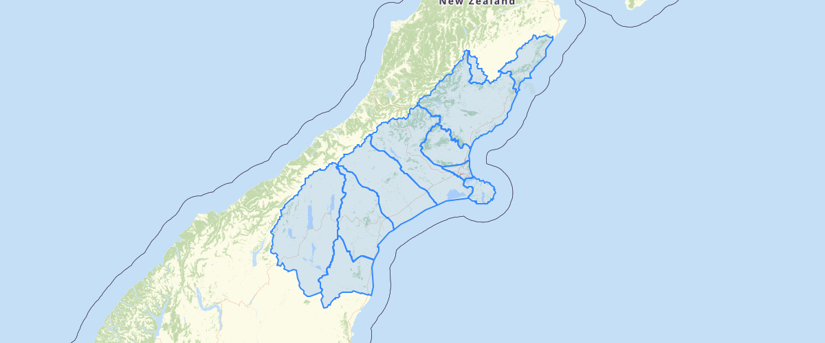 Canterbury - Water Management Strategy Zones