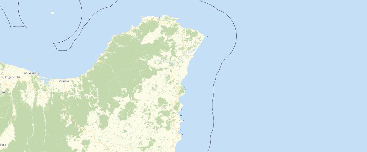 Gisborne Coastal Marine Area Boundary