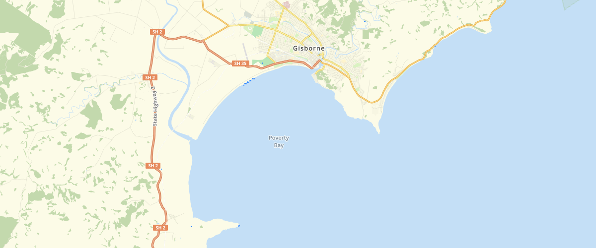 Gisborne Flow Depth 100yr ARI