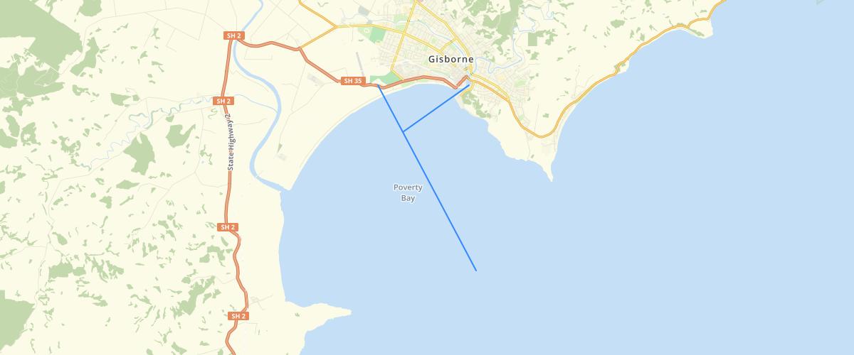 Gisborne Navigation Route