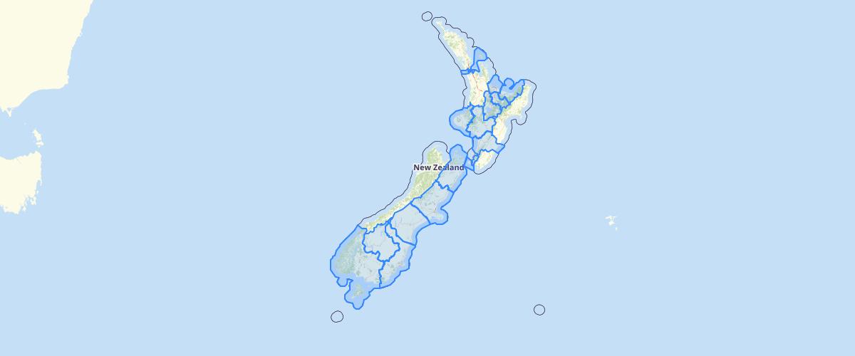 NZ Police Area Boundaries