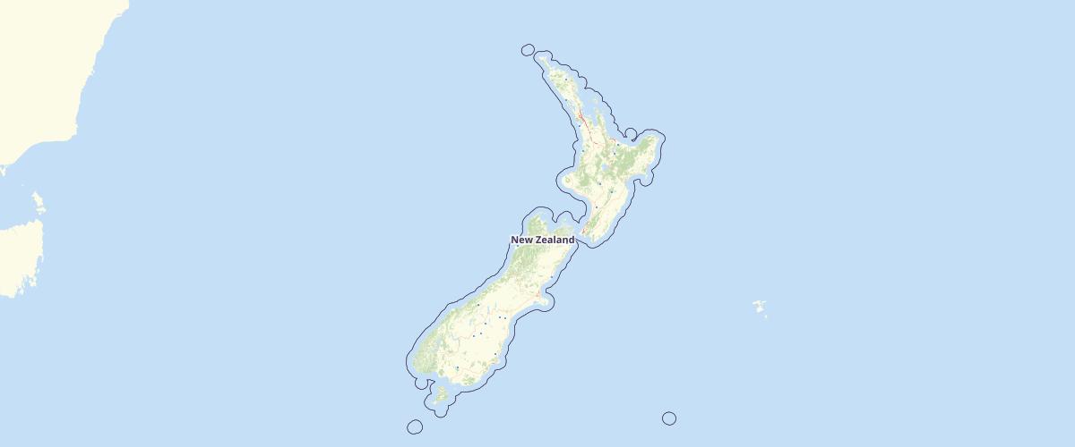 NZ Runway Polygons Topo 1:50k