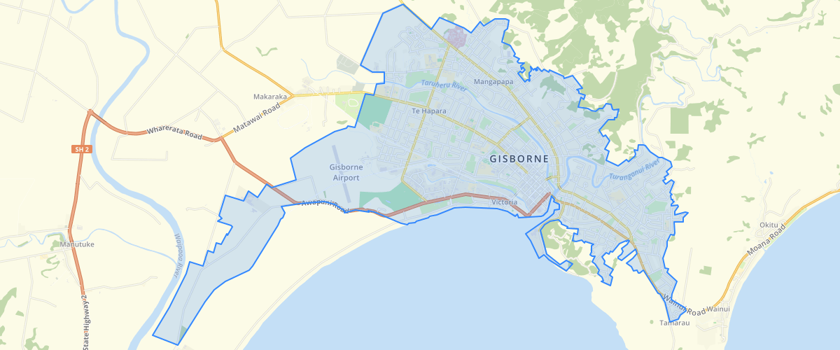 Gisborne Reticulated Services Boundary