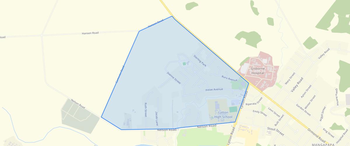 Gisborne Taruheru Block Structure Plan Area