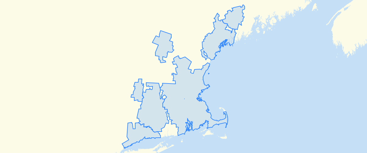 US Combined New England City and Town Areas