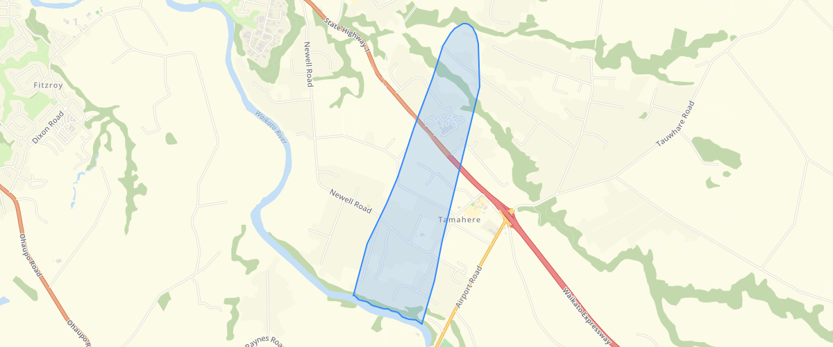 Waikato DP Airport Noise Subdivsion Control Boundary - Waikato District Council
