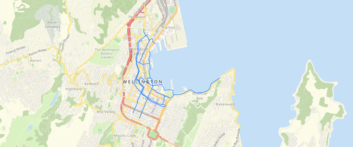Wellington Accessible Waterfront Route
