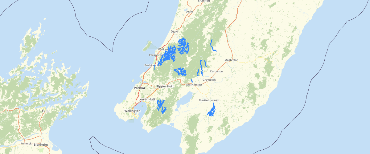 Wellington Regional Council NRP Schedule M2 Drinking Goundwater Protection Areas
