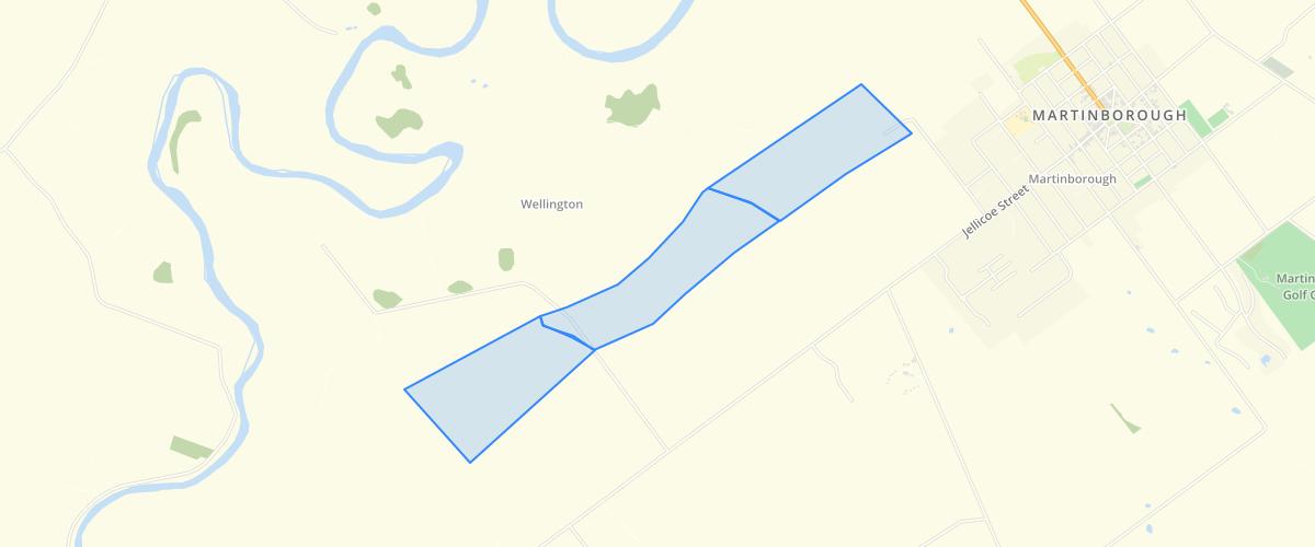 Wellington Regional Council Fault zones for the Martinborough Fault Wairarapa NZ