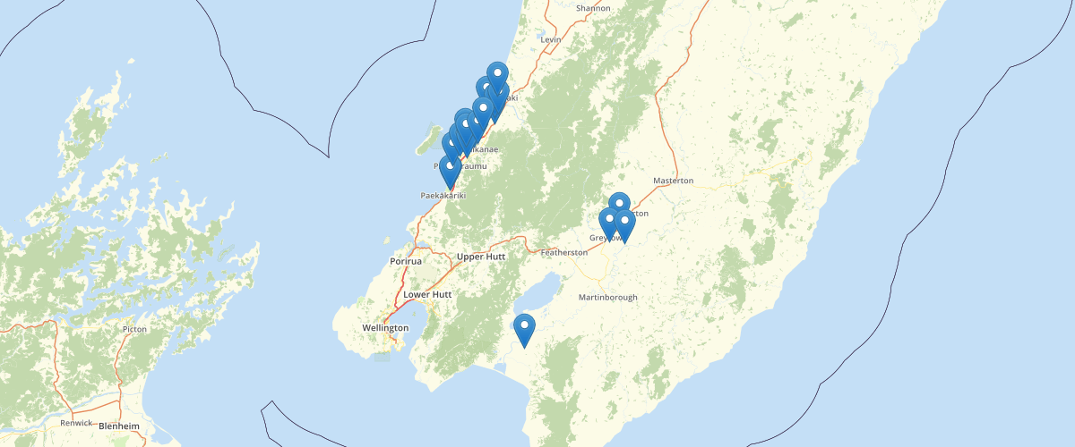 Wellington Regional Council Groundwater Level Monitoring Sites