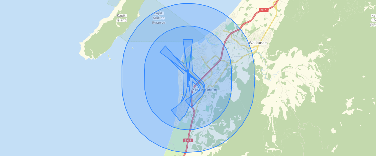 Wellington Regional Council Kapiti Airport Height Restriction Areas
