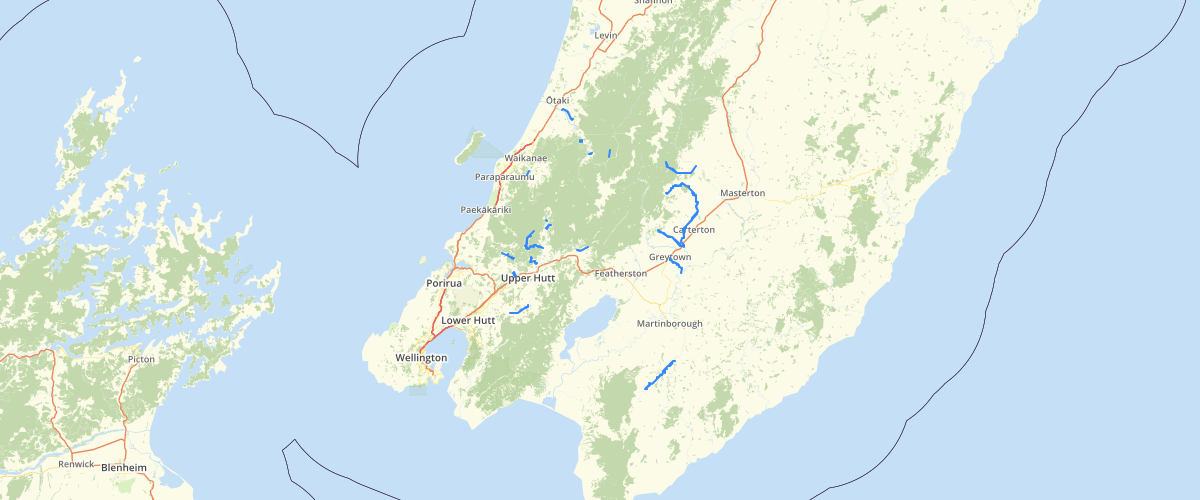 Wellington Regional Council NRP Category 2 Surface Waterbodies