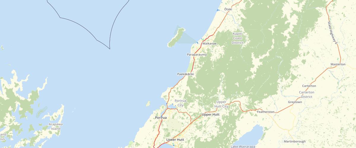 Wellington Regional Council NRP Coastal Marine Area and Rivermouth Boundaries