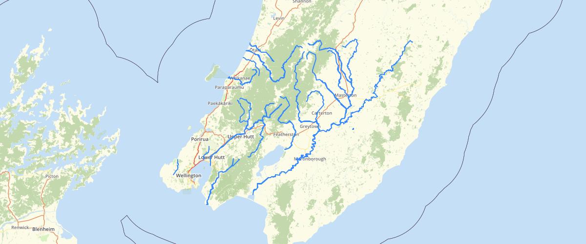 Wellington Regional Council NRP Schedule I Trout Fishery River