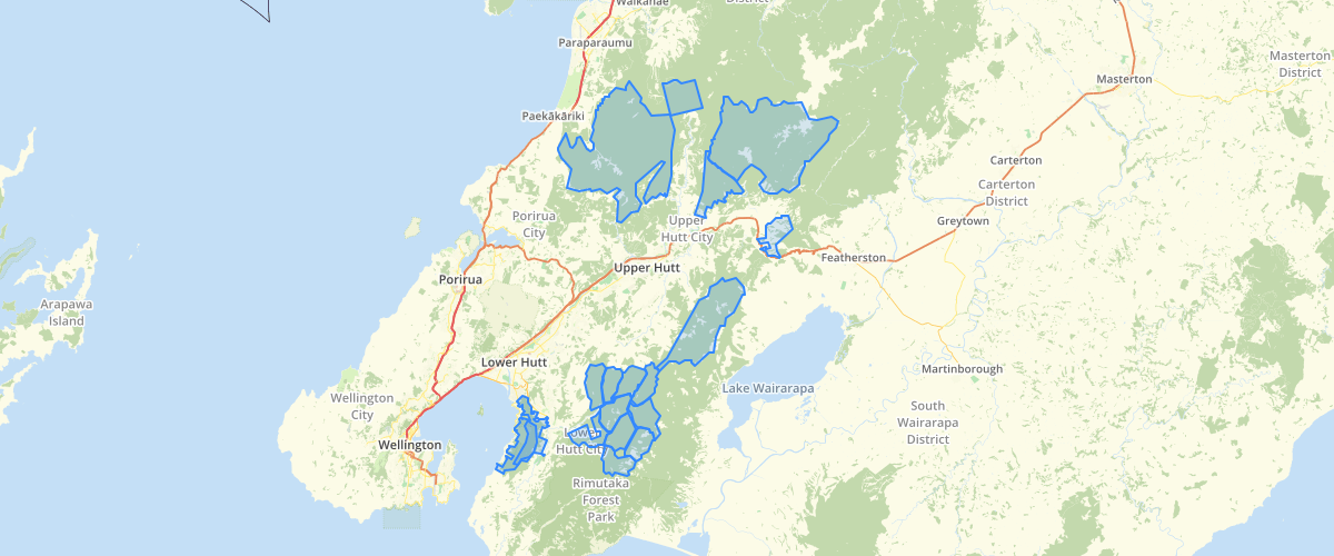 Wellington Regional Council Park Hunting Areas
