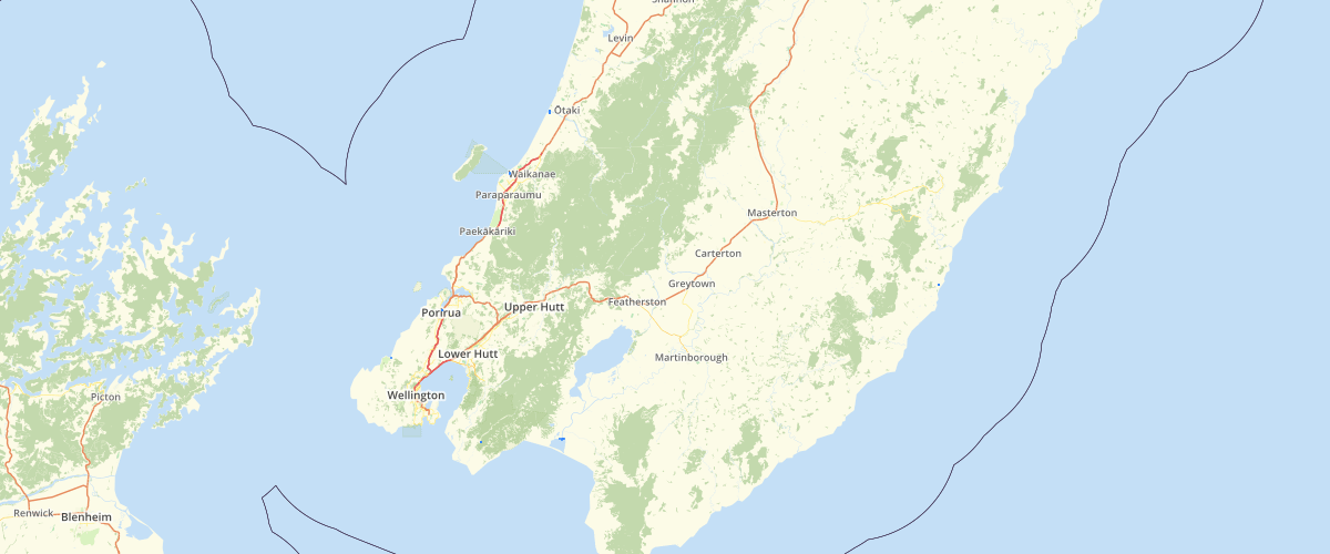 Wellington Regional Council RCP River Mouths and CMA Boundaries