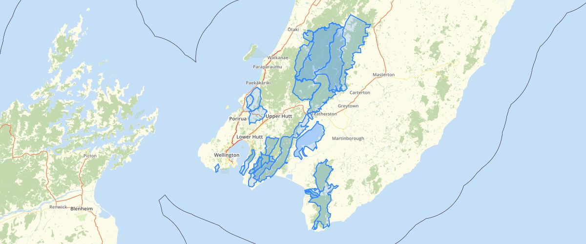 Wellington Regional Council RFP Catchments with High Degree of Natural Character