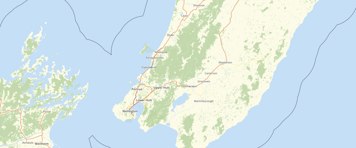 Wellington Regional Council State Highways Labels