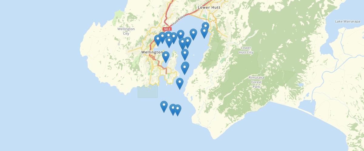 Wellington Regional Council Wellington Harbour Pilotage Waypoint Stations