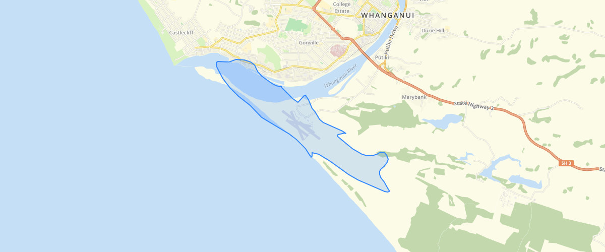 Whanganui - Airport Outer Control Boundary Overlay