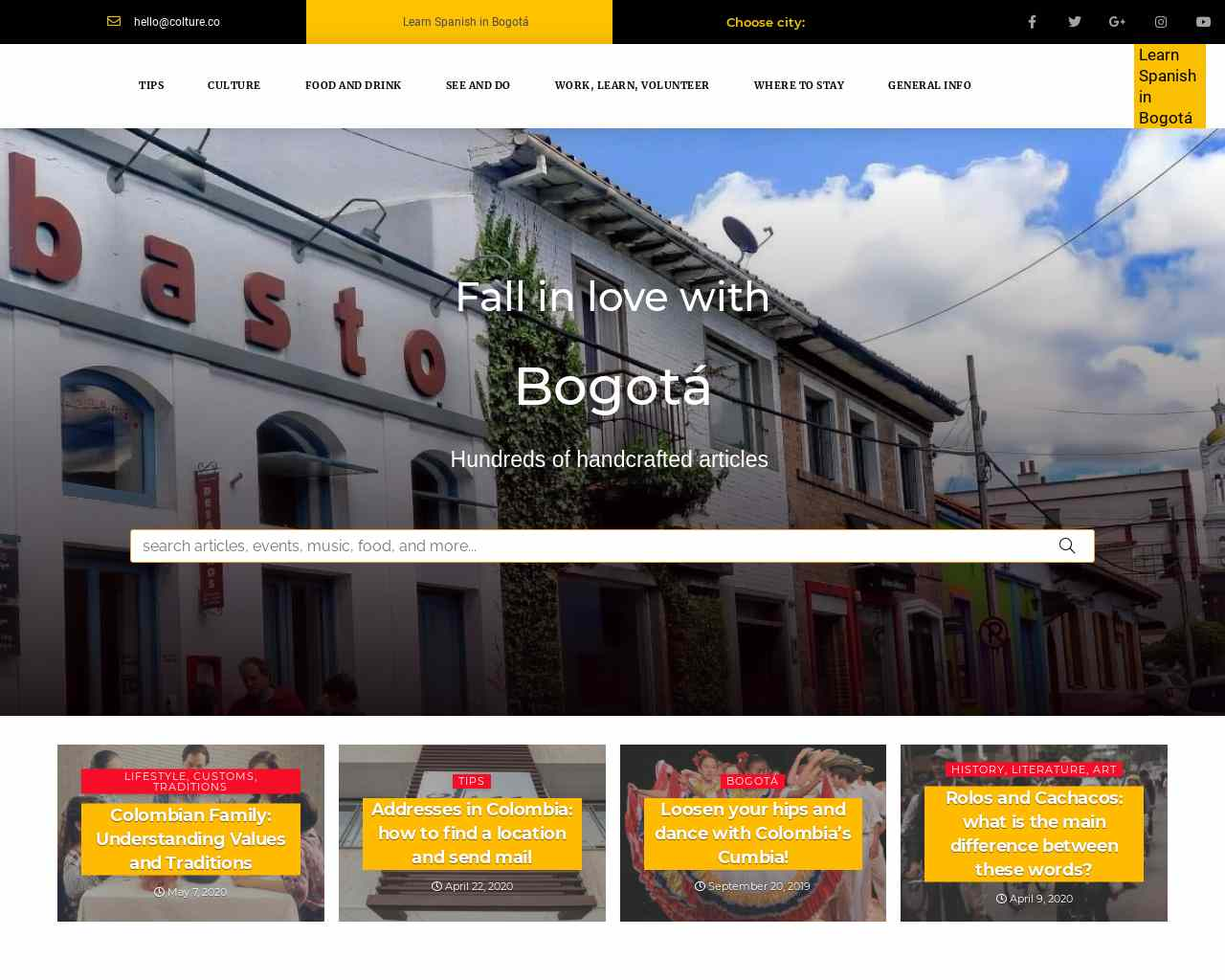 Colture | Articles, events, tips and more about Bogota - You will love it