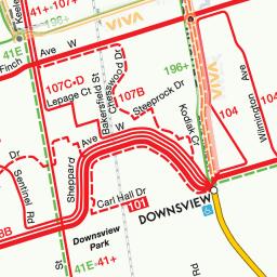 Toronto Subway Map Overlay.Greater Toronto Area Transit
