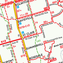 Toronto Bus And Subway Map.Greater Toronto Area Transit