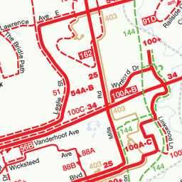 Toronto Subway Map With Streets.Greater Toronto Area Transit