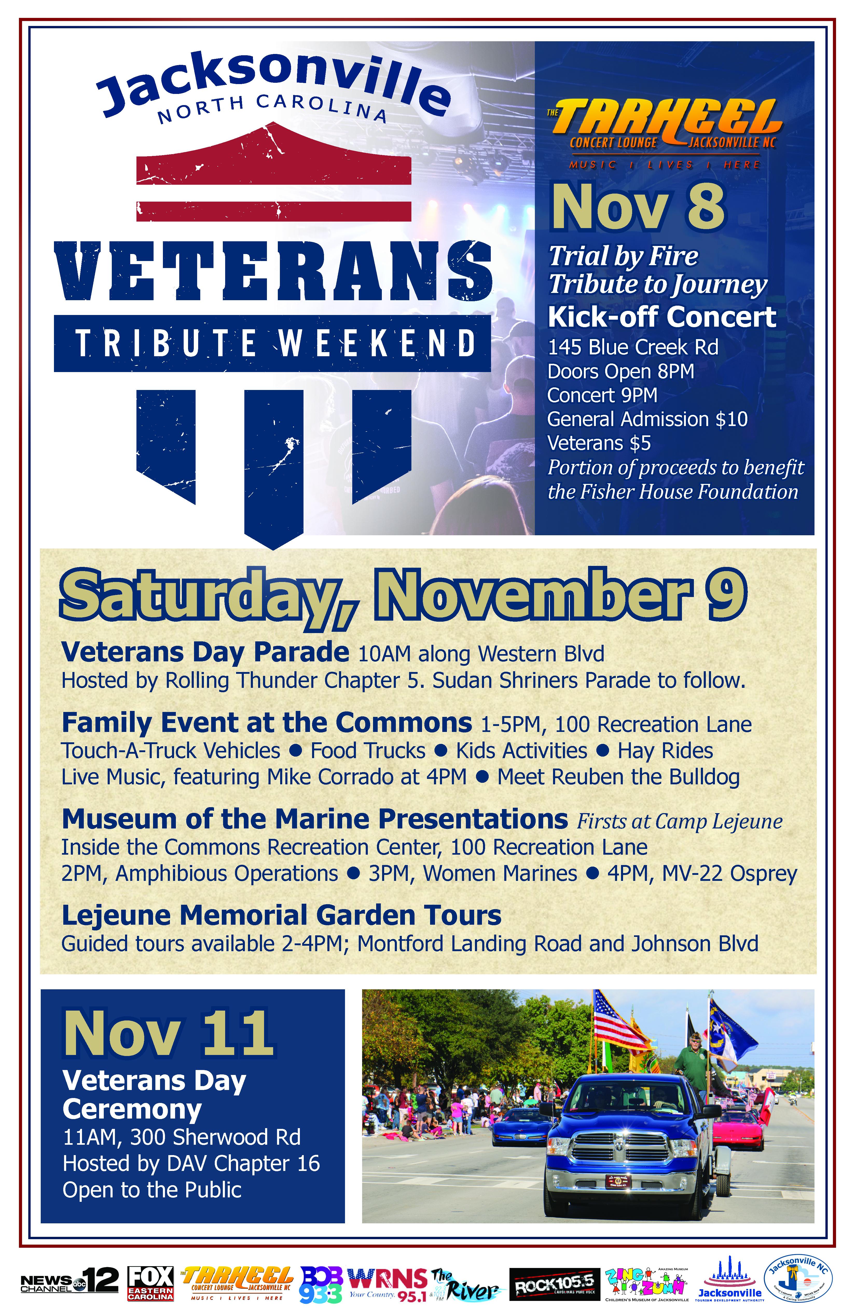 Jacksonville NC Veteran's Tribute Weekend