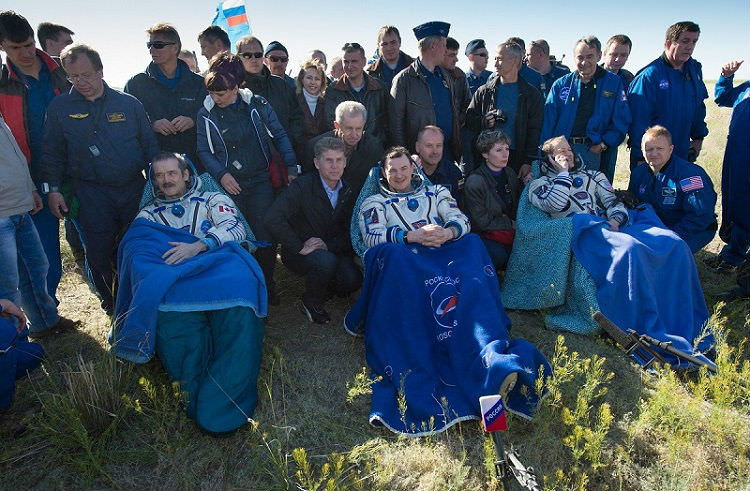 ISS Expedition 35 Returns to Earth