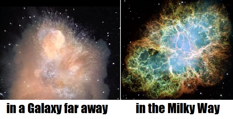 Star Wars Alderan vs Crab Nebula
