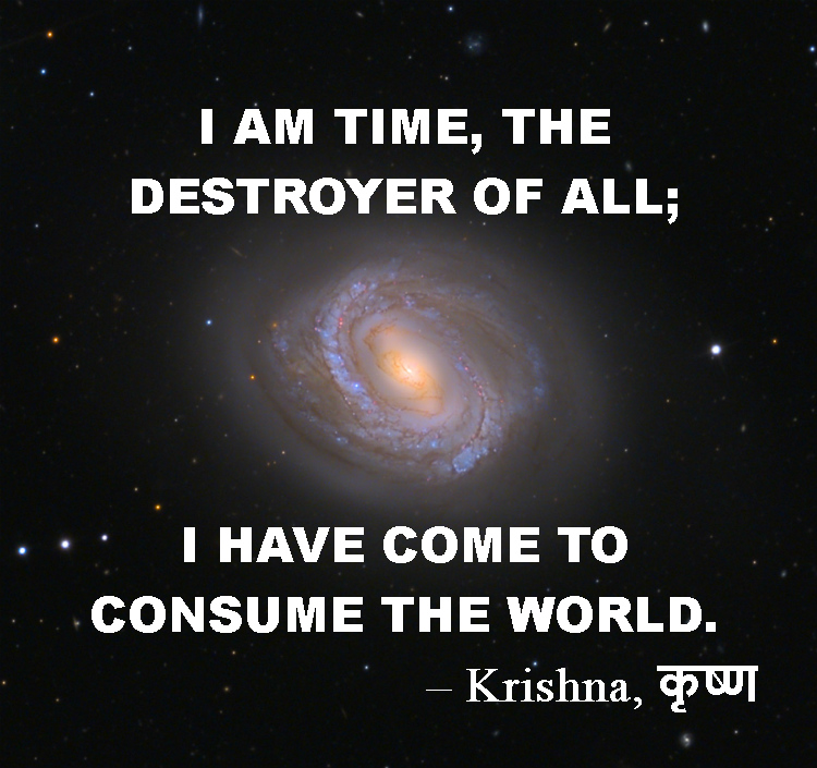 Krishna quote from Bhagavad Gita: Time, destroyer of all