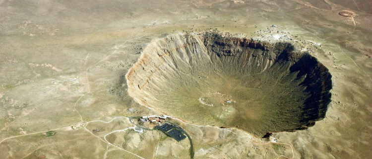 A huge crater in Arizona