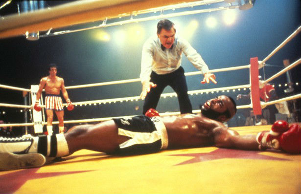 Clubber Lang Knocked Down