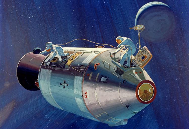 Apollo Astronauts EVA