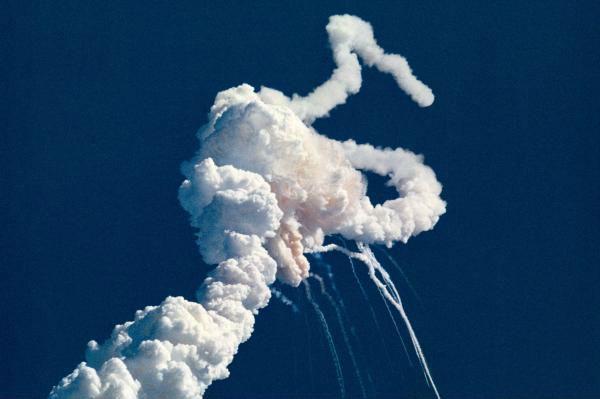 Challenger shuttle explosion