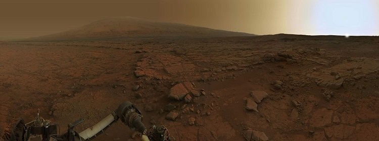 Mars as seen from the perspective of NASA's Curiosity rover
