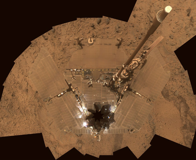 Opportunity covered in Martian Dust