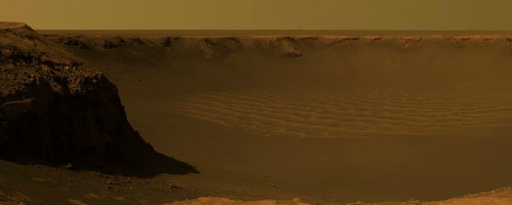 Victoria Crater from Opportunity's Perspective